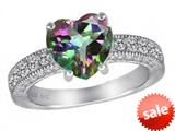 Star K™ 8mm Heart Shape Mystic Quartz Ring style: 311507