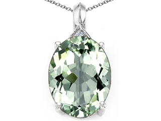 Tommaso design oval 12x10mm green amethyst pendant necklace 300625 main image aloadofball Image collections