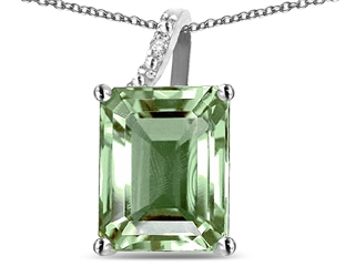 Star k 10x8 octagon emerald cut green amethyst pendant necklace main image aloadofball Image collections