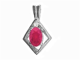 Tommaso Design™ Genuine Ruby Pendant style: 21171
