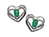 Tommaso Design™ Oval 5x3mm Genuine Emerald Earrings style: 21204