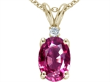 Tommaso Design™ Genuine Pink Tourmaline Pendant Necklace style: 21471