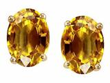 Tommaso Design™ Oval 8x6mm Genuine Citrine Earrings Studs style: 21532