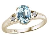 Tommaso Design™ Genuine Aquamarine Ring style: 21670
