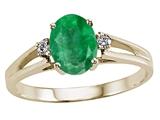 Tommaso Design™ Genuine Emerald Ring style: 21700