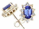 Tommaso Design™ Oval 6x4 mm Genuine Tanzanite Earrings style: 21739