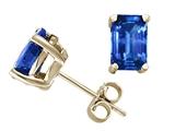 Tommaso Design™ Emerald Cut 6x4mm Genuine Sapphire Earrings style: 21965