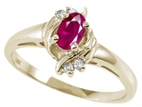 Tommaso Design™ Genuine Ruby and Diamond Ring style: 22068