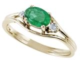 Tommaso Design™ Genuine Emerald Ring style: 22074