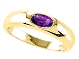 Tommaso Design™ Genuine Amethyst Ring style: 22540