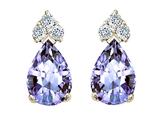 Tommaso Design™ Pear Shape 7x5mm Genuine Tanzanite Earrings style: 22680