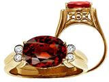 Tommaso Design™ Large Oval 10x8mm Genuine Garnet Ring style: 22745