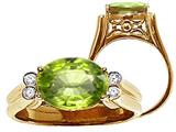 Tommaso Design™ Oval 10x8 mm Genuine Peridot Ring style: 22746