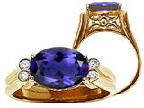 Tommaso Design™ Large Oval 10x8 mm Genuine Iolite Ring style: 22747
