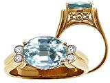 Tommaso Design™ Large Aquamarine Ring style: 22748