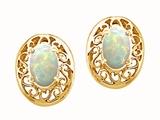 Tommaso Design™ Oval 5x3mm Genuine Opal Earrings style: 22894