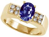 Tommaso Design™ Oval 8x6 mm Genuine Iolite Ring style: 23007