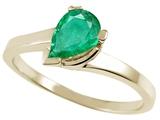 Tommaso Design™ Genuine Emerald Ring style: 23229