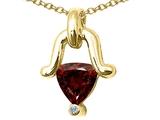 Tommaso Design™ Genuine Garnet Pendant Necklace style: 23234