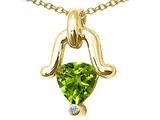 Tommaso Design™ Genuine Peridot Pendant Necklace style: 23235
