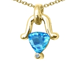 Tommaso Design™ Genuine Blue Topaz Pendant Necklace style: 23236