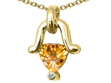 Tommaso Design™ Genuine Citrine Pendant Necklace style: 23237