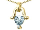 Tommaso Design™ Genuine Aquamarine Pendant style: 23238