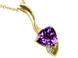 Tommaso Design™ Genuine Amethyst Pendant Necklace style: 23252