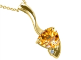 Tommaso Design™ Genuine Citrine Pendant Necklace style: 23255