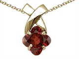 Tommaso Design™ Clover Cut 7mm Genuine Garnet Pendant Necklace style: 23260