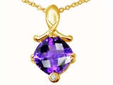 Tommaso Design™ Genuine Amethyst Pendant Necklace style: 23265