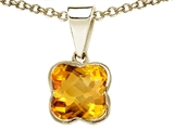 Tommaso Design™ Genuine Clover Citrine Pendant Necklace style: 23320