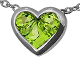 Tommaso Design™ Genuine Invisible Set Peridot Pendant Necklace style: 23343
