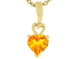 Tommaso Design™ Genuine Heart Shape Citrine Pendant Necklace style: 23696