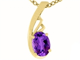 Tommaso Design™ Genuine Amethyst Pendant Necklace style: 23793