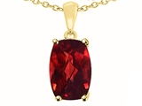 Tommaso Design™ Genuine Garnet Pendant Necklace style: 23809