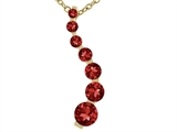Tommaso Design™ Genuine Garnet Journey Pendant Necklace style: 23925