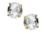 Tommaso Design™ Round 6 mm Genuine White Topaz Earrings Studs style: 24046