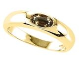 Tommaso Design™ Oval 6x4mm Genuine Smoky Quartz Ring style: 24079