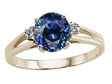 Tommaso Design™ Round Created Sapphire Ring style: 24459