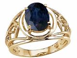 Tommaso Design™ Genuine Large Oval Sapphire Ring style: 24539
