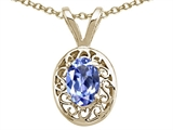 Tommaso Design™ Genuine Tanzanite Oval Pendant style: 24595
