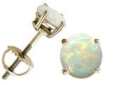Tommaso Design™ Round 5mm Genuine Opal Screw Back Earrings Studs style: 24804