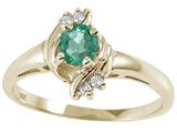 Tommaso Design™ Genuine Emerald Ring style: 24973