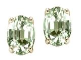 Tommaso Design™ Oval 8 x 6mm Genuine Green Amethyst Earring Studs style: 25284