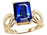 Tommaso Design™ Emerald Cut 10x 8mm Created Sapphire Solitaire Ring style: 25493