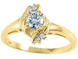 Tommaso Design™ Genuine Aquamarine Ring style: 25664