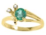 Tommaso Design™ Genuine Emerald Ring style: 25675