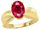 Tommaso Design™ Created Ruby Solitaire Ring style: 25902