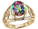 Tommaso Design™ Oval 10x8 mm Mystic Rainbow Topaz Ring style: 25939